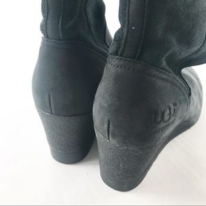 1a573b5b7cf UGG Shoes - UGG pure Boots Edelina Leather Suede Wedge Black 5
